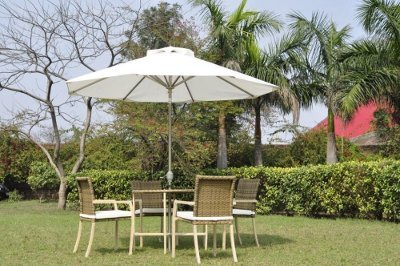 Garden & Poolside Stainless Steel Umbrellas