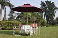 Pacific Wooden Umbrellas with Folding Chairs