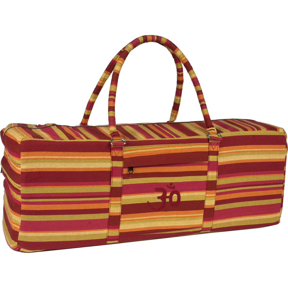 Yoga Kit Bag Burgundy Stripe