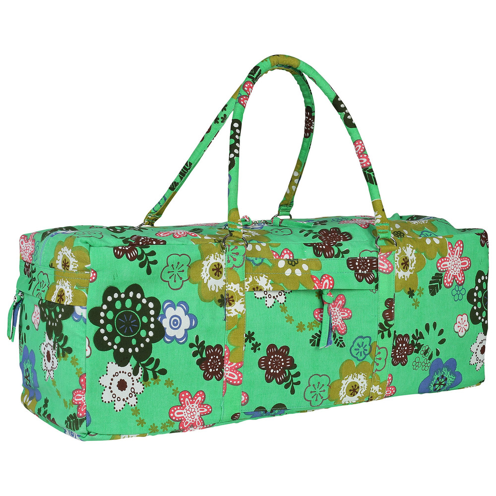 Yoga Kit Bag- Green Printed