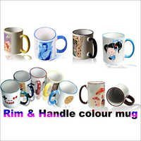 Rim & Handle Colour Mug