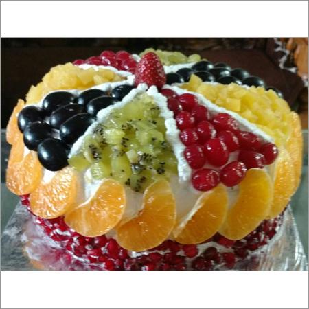 Fresh Fruit Pizza Style Cake