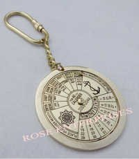 Nautical 40 Year Calendar Key Ring