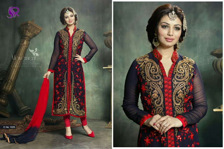 UDAAN--GEORGETTE EMBROIDERY SUIT