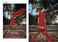 MIRZA--PURE GEORGETTE EMBROIDERY SUIT