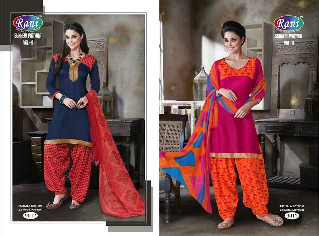 SUNHERI PATIYALA 9--TRENDY COTTON SUIT