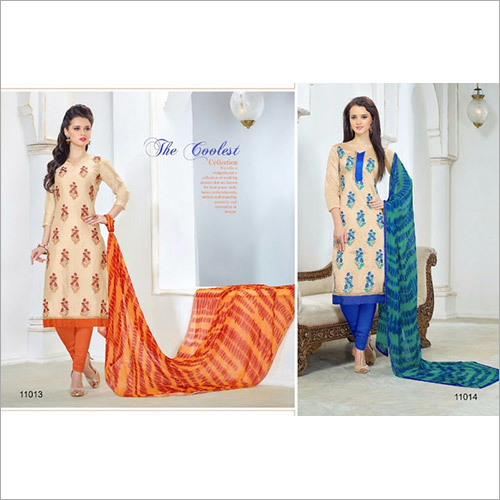 AKSHARA 11--TRENDY CHANDERI SUIT