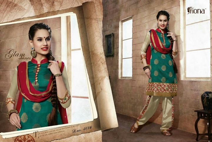 FIONA PATIYALA--FANCY CHANDERI SUITS