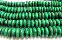 Emerald German Cut Faceted Beads