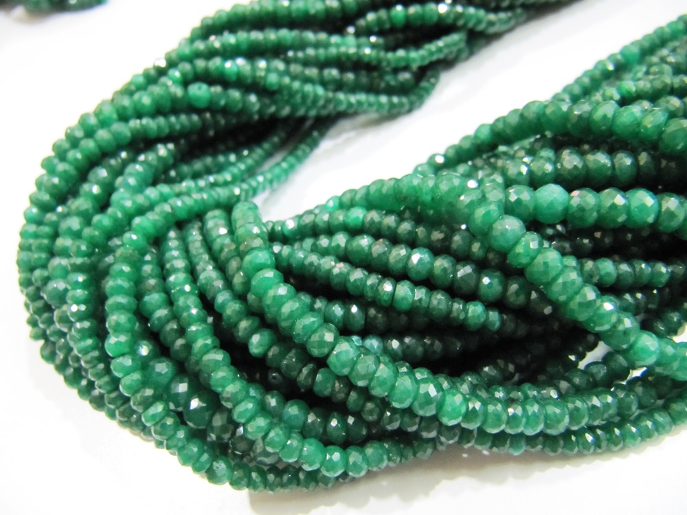 Emerald Corundum Beads Strings