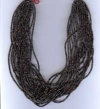 Black Diamond Rondelle faceted beads strings