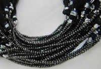 Black Diamond beads Strand
