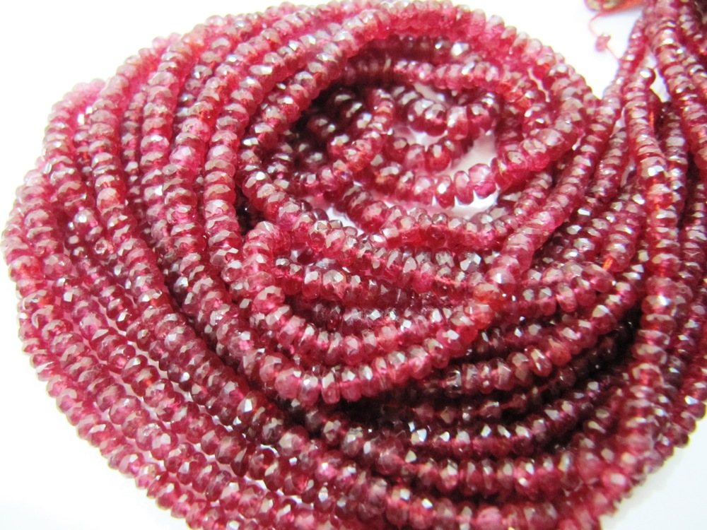 AAA Quality Red Spinel beads 3 to 4mm