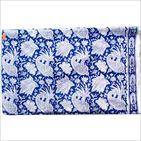 Blue Floral Paisley Fabric