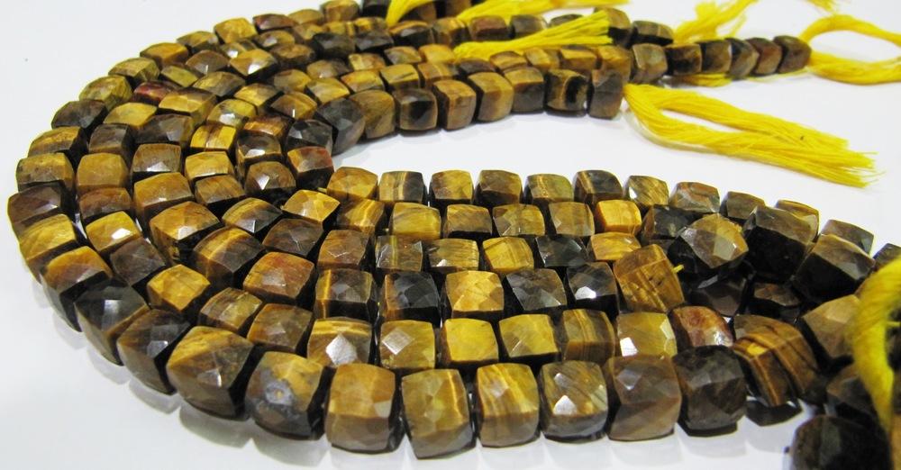 Tiger Eye Box Beads