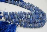 Tanzanite Color Solar Quartz Slice Disc beads