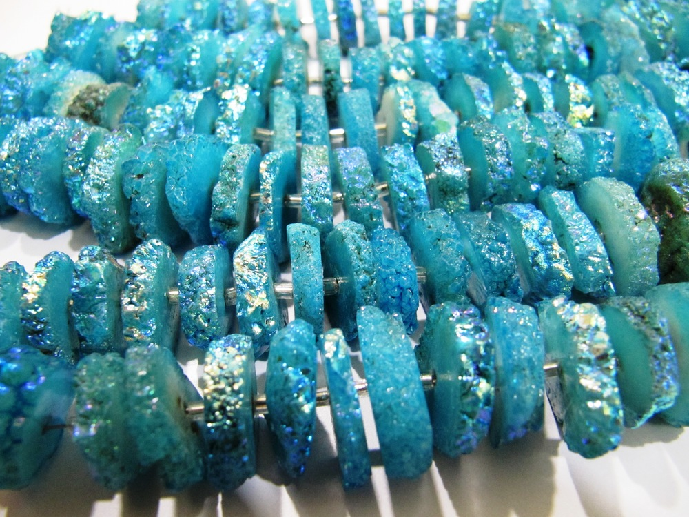 Solar beads Slices Sky Blue color