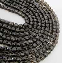 Smokey Cube Beads