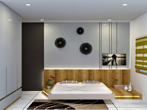 . Modern Bedrooms Interior Design Service in Vadodara