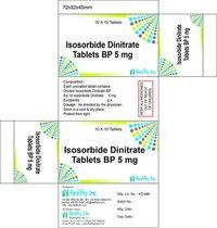 Isosorbide Dinitrate Tablets BP 5 mg