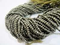 Pyrite Rondelle faceted beads