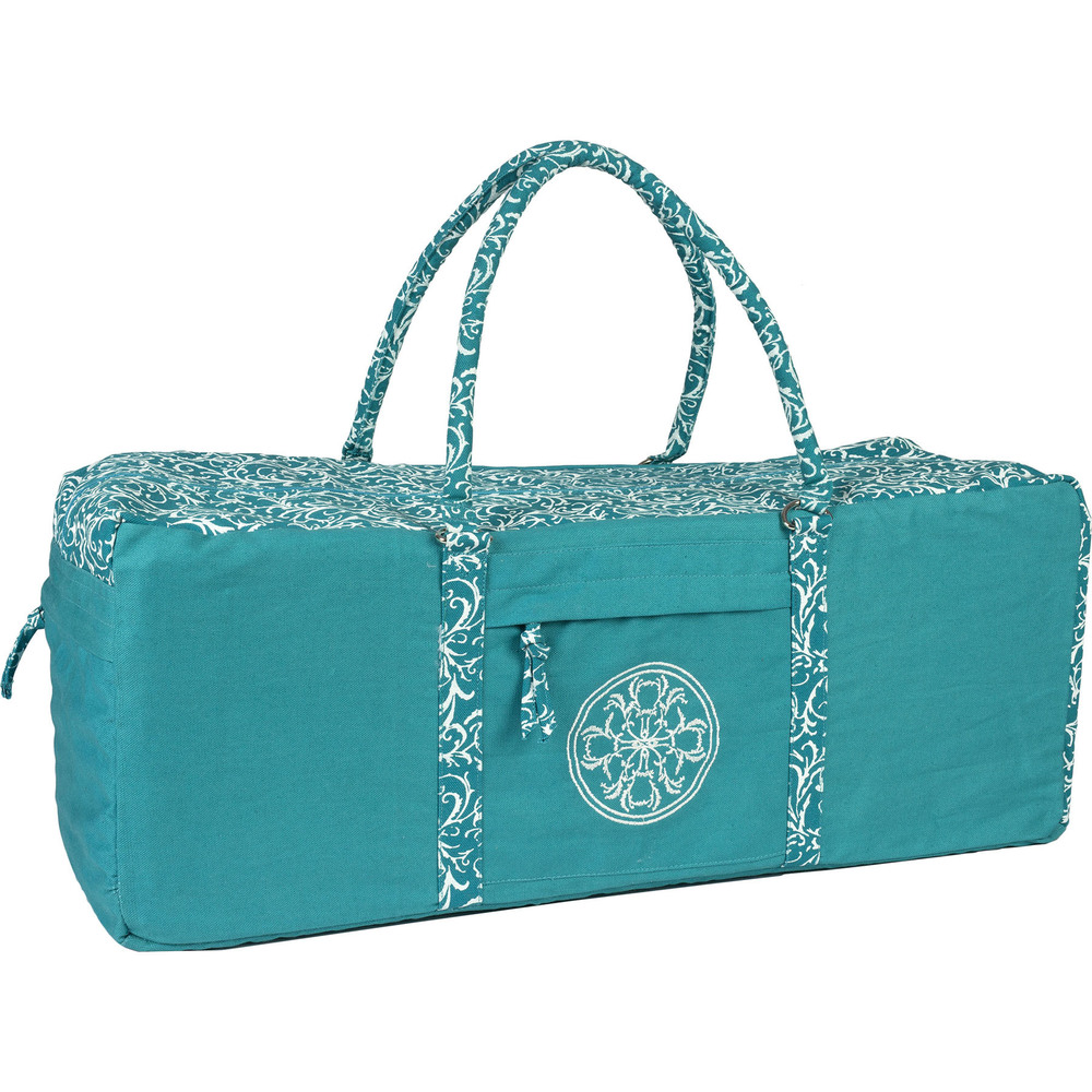 Yoga Kit Bag Turquoise Embroidered