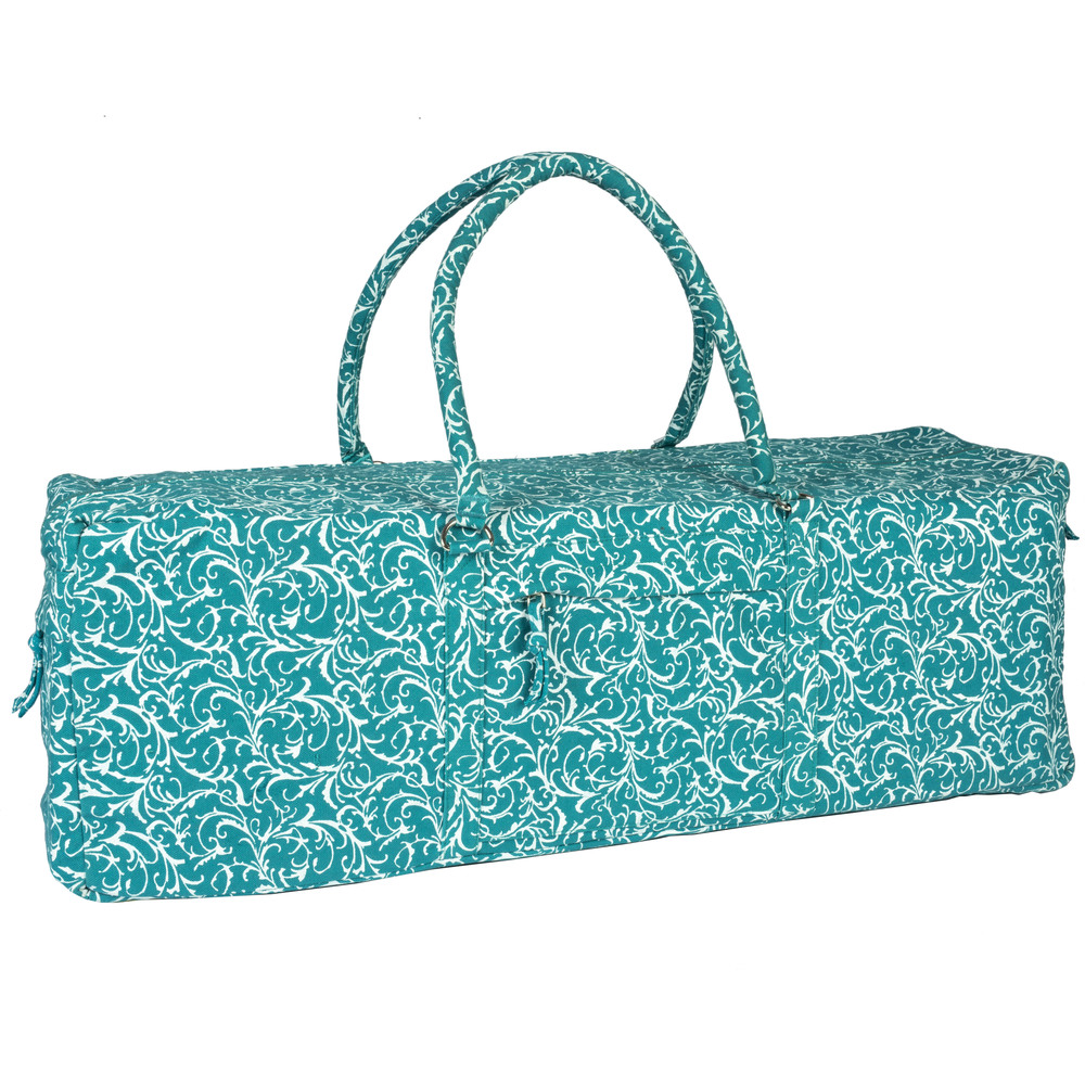 Turquoise Full Print  Yoga Kit Bag
