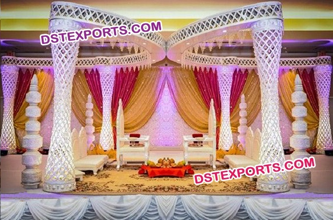 Diamond Fiber Wedding Mandap Decoration