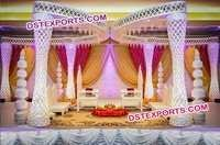 Diamond Fiber Wedding Mandap Decoration