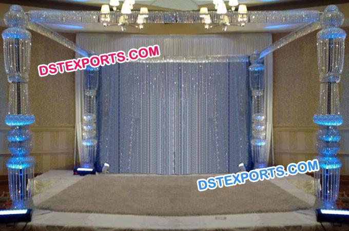 New Hanging Crystal Mandap Set