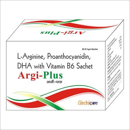L-Arginine  3 gm + DHA  200 mg  Proanthocyanidin 75 mg + Vita. B6  6 mg