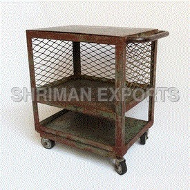 Vintage Industrial Side Cart