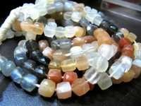 multi Moonstone Box beads