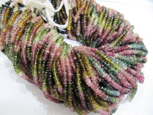 Multi color Tourmaline beads