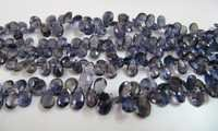 Iolite FAceted Pear Drops