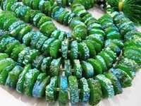 Green Solar Quartz beads