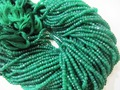 Green Onyx Rondelle Faceted Far Size Beads