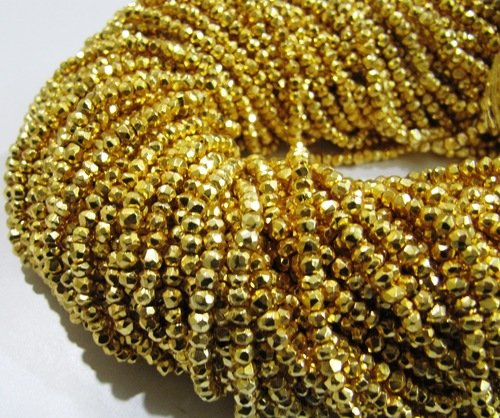 Golden Pyrite Beads