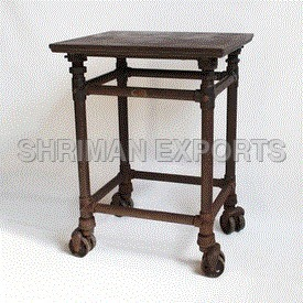 Vintage Industrial Iron Table
