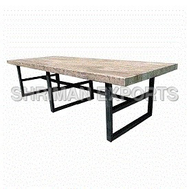 Reclaimed Oak and Iron Meeting Table
