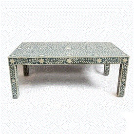Inlay Teal Blue Coffee Table