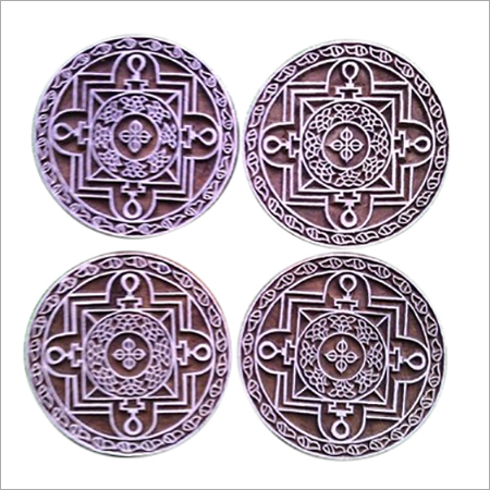 wooden printing blocks round mandala design for printing  (5 pcs pack)