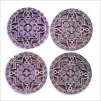 wooden printing blocks round mandala design for printing  (5 pcs pack)