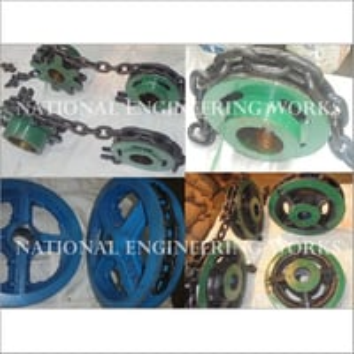 Link Chain Sprocket & Trailing Wheel