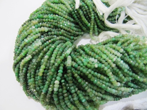 Crysoprase Rondelle Faceted beads