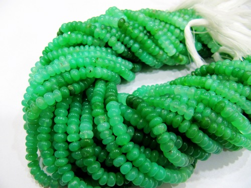 Chrysoprase Smooth Rondelle beads