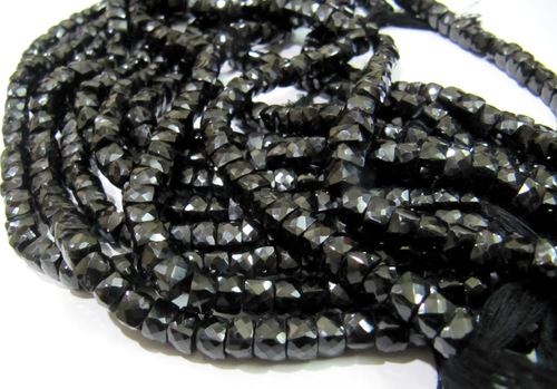 Black Spinel Box Beads