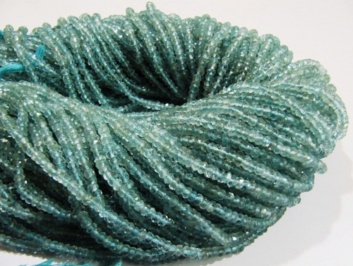 Aquamarine faceted Beads