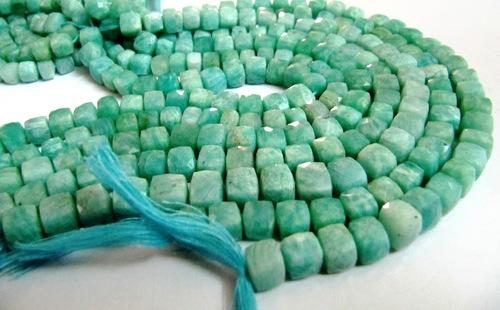 Amazonite Box Beads