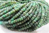AA Quality Chrysoprase Rondelle faceted Strand